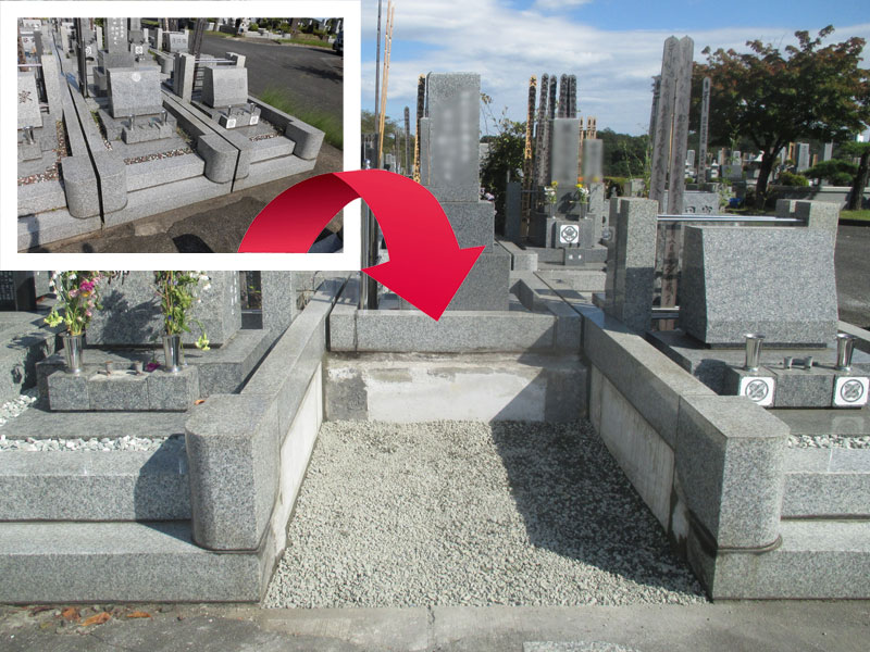 千葉墓じまい施工例